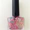 "Indie Nail Polish ""Coral Goddess"" Mint/Pink Glitter"